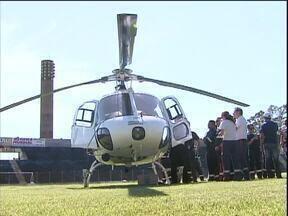 Socorro médico do Consamu começa a usar a partir desta quarta-feira - Ao todo 22 funcionários do Samu passaram por treinamento prático e teórico para prestar socorro aéreo às vítimas.