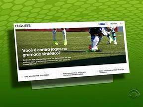 Participe de enquete sobre jogos no gramado sintético - Acesse globoesporte.com/rs.