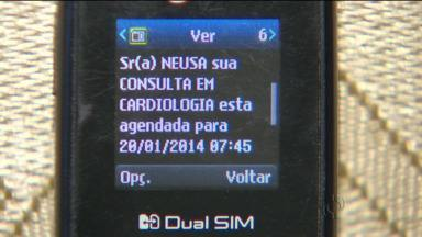 Pacientes vão receber aviso de consulta médica por mensagem no celular - Objetivo é que pacientes não esqueçam do horário