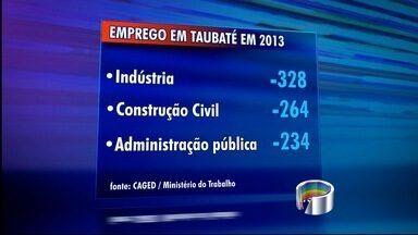Taubaté, SP, tem pior resultado dos últimos dez anos no saldo de empregos - As demissões em toda região superaram as contratações. A indústria puxou esses índices para baixo, segundo levantamento do Ministério do Trabalho.