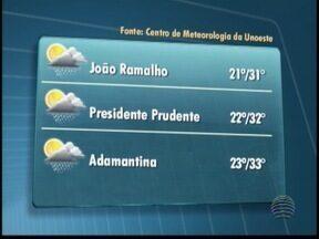 Massa de ar quente e úmido está sob a região de Presidente Prudente - Confira a previsão do tempo para algumas cidades.