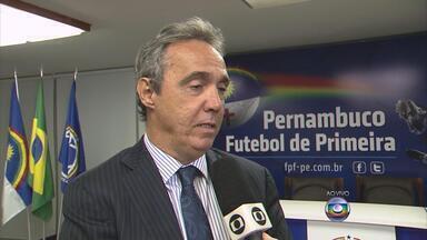 Presidentes de Náutico, Sport e Santa discutem ações para evitar violência nos estádios - Dirigentes se reuniram na sede da Federação Pernambucana de Futebol.