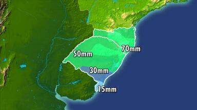Passagem de frente fria deve provocar pancadas de chuva até o fim do mês - Assista ao vídeo.