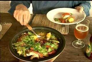 Confira a receita feita com cogumelos shitake em Nova Friburgo, RJ - Receita leve e nutritiva é boa opção para complementar a alimentação.