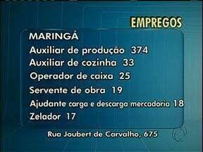 Empresas da região de Maringá abrem diversas vagas de emprego - Confira as opções: