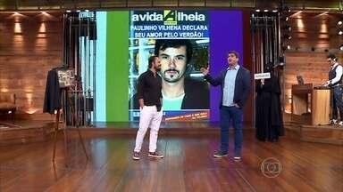 Verdadeiro ou falso? Vídeo Show brinca com manchetes sobre a vida de Paulinho Vilhena - Plateia opina sobre as manchetes