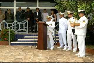 Novo comandante da Capitania Fluvial toma posse em Santarém - Transmissão de cargo foi na manhã desta terça-feira (28). Novo comandante veio do Rio de Janeiro.