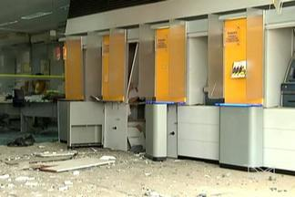 Bandidos explodem caixa eletrônico em Bom Jardim, a 260 km de São Luís - Crime aconteceu na madrugada desta terça-feira (28). A área de atendimento da agência ficou parcialmente destruída.