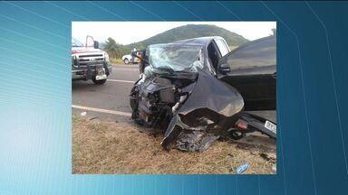 Estado de saúde de sobrevivente de acidente em Guarapari, ES, é grave - Michelle Fernandes está internada no hospital São Lucas em Vitória.Médica também está na UTI e motorista já recebeu alta nesta segunda (27).