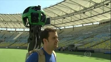 Detalhes dos estádios da Copa estarão disponíveis na internet' - Graças ao Google Street View, o internauta terá o ponto de vista do jogador. Ele vai ter a sensação de pisar no gramado e ocupar todos os seus espaços.