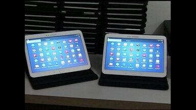 Empresa inova com aluguel de tablets - Em São Paulo, empresários apostam no setor da tecnologia e informática e montam uma empresa de aluguel de tablets.