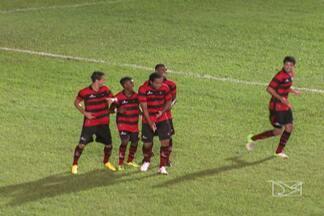 Moto goleia o São José-MA no Nhozinho Santos - Com gols de Henrique, Vitor, dois de Gilson e um contra de Germano, rubro-negro vence o Peixe Pedra e mantém a liderança do grupo A