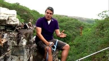 Atletas se aventuram em highline a 20 metros de altura, assista no Circuito Radical - O Esporte Espetacular vai exibir prova realizada em Minas Gerais.