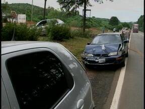 Quatro veículos se envolveram em um acidente de trânsito na ERS-135 - Ninguém ficou ferido.