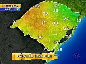 Tempo: nesta terça-feira, a previsão é de sol e tempo seco em boa parte do RS - Em Porto Alegre, a máxima é de 31ºC.