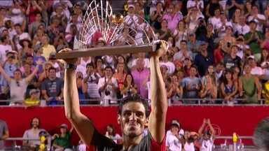 Rafael Nadal vence Aleksandr Dolgopolov e é campeão do Rio Open - Tenista Espanhol consegue vitória no tai break.