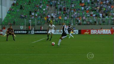 Tardelli faz gol da virada sobre o América-MG, no Independência - Em clássico muito movimentado, Galo supera primeiro tempo ruim e vence po 3 a 2 no Horto, em Belo Horizonte.