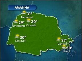 Frente fria continua provocando chuva na região - O tempo segue instável nesta terça-feira (25).