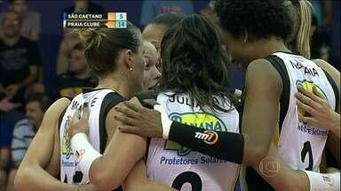 Praia Clube derrota São Caetano pela Superliga feminina de vôlei - Monique e Mari comandaram a vitória do time mineiro.