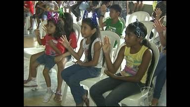 Crianças participam do Cristoval Mirim nesta terça-feira - Evento ocorre há dez anos inserido na programação do evento religioso Cristoval.