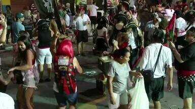 Ruas de Mendes, RJ, recebem desfiles - Moradores e turistas da cidade aproveitaram para cair na folia; blocos agitaram a festa.