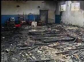 Prédio do regime semiaberto de Palmas é destruído após incêndio - Prédio do regime semiaberto de Palmas é destruído após incêndio.