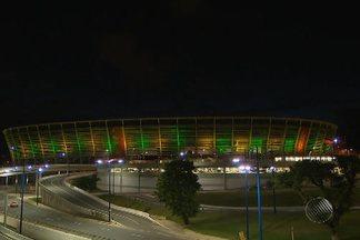 Fonte Nova e Elevador Lacerda ganham iluminação em homenagem à Seleção Brasileira - Faltam 99 dias para o início da Copa do Mundo no Brasil.