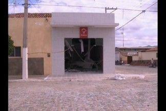 Agência bancária foi explodida, em Cacimba de Areia, na Paraíba - Segundo a polícia, a ação dos bandidos foi pela madrugada.