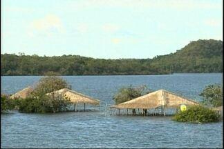 Movimentação em Alter do Chão diminuiu com a cheia do Rio Tapajós - Moradores temem que a cheia deste ano seja maior que as anteriores.
