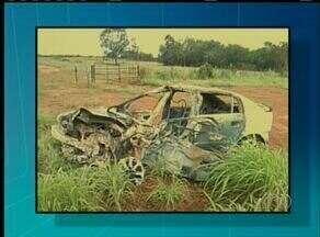 Motorista morre carbonizado em acidente em Figueirópolis - Motorista morre carbonizado em acidente em Figueirópolis