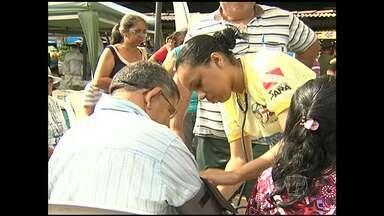 Ações do HRBA em mercado previnem contra doenças renais - A programação marcou em Santarém o dia do rim.