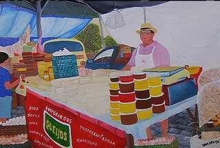 Cotidiano alegre e colorido de Aracaju é retratado em telas de arte - Artista plástica retrata o cotidiano alegre e colorido de Aracaju.