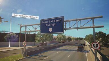 Consórcios de túnel Santos-Guarujá tem 18 empresas na disputa - Todas têm participação estrangeira