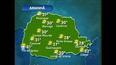 Fim de semana deve ser ensolarado em Curitiba - Há possibilidade de chuva no fim da tarde