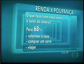 Pesquisa revela que brasileiros não tem o hábito de poupar - Maioria chega ao fim do mês sem dinheiro.
