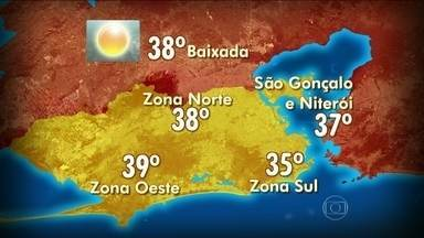 Confira a previsão do tempo para o RJ - Dos 88 dias de verão, somente 17 dias foram chuvosos. Nesta quarta-feira (19), a máxima pode chegar aos 39ºC na Zona Oeste e 38º C na Zona Norte. Em São Gonçalo e Niterói os termômetros podem registrar 37ºC.