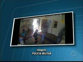 Polícia divulga imagens de assaltos a agências dos Correios na região. - Suspeita é de que a mesma quadrilha esteja agindo em várias cidades.