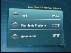 Tempo instável deve permanecer nesta sexta-feira - Temperaturas podem cair no Oeste Paulista.
