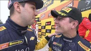 Primeira etapa da temporada da Stock Car é realizada com dois pilotos em cada carro - Felipe Fraga e Rodrigo Sperafico vencem a corrida em Interlagos.