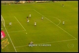 Esporte: Atlético vence América e fica em situação favorável no campeonato - Atlético pode perder até por três gols de diferença no jogo de volta.