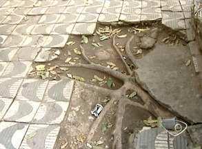 Buracos em calçadas de Colatina, Noroeste do ES, oferecem riscos a moradores - Muitas calçadas não têm acessibilidade.