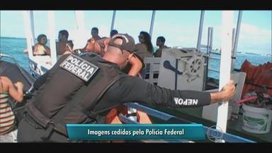 Polícia Federal comanda ação para combater crimes ambientais em praias de PE e AL - 80 embarcações foram abordadas e fotógrafos foram detidos por prática irregular de alimentar animais.