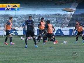 Esporte: Grêmio se prepara para jogo contra o Brasil-Pel nesta quarta-feira - Jogo acontece pelas semifinais do Gauchão.