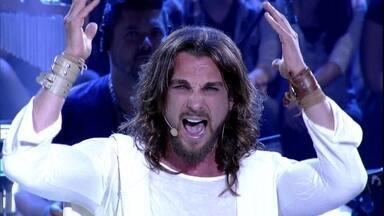 Elenco do espetáculo Jesus Cristo Superstar se apresentam no Altas Horas - Negra Li, Igor Rickly e Alírio Netto cantam canções que fazem parte do musical