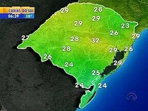 Tempo: nesta segunda-feira, a previsão é de chuva em partes do RS - Em Porto Alegre, a máxima é de 29ºC.