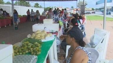Mais uma edição da Feira Sabor do Campo é realizada em Porto Velho - A feira é um apoio dado a produtores de vários assentamentos para a venda da produção agrícola.