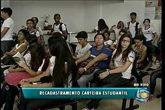 Estudantes têm até está segunda-feira (31) para recadastrarem o cartão estudantil - Cerca de 15 mil estudantes usam o serviço de meia passagem de ônibus.