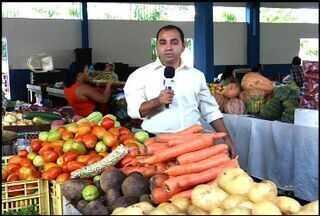 Chuva contribui para a redução do preço de frutas e legumes, na Região do Cariri - Mercado Público da cidade do Crato conta com grande variedade dos produtos.