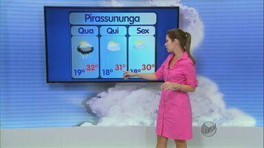Confira a previsão do tempo para a região de São Carlos nesta quarta-feira (2) - Confira a previsão do tempo para a região de São Carlos nesta quarta-feira (2).