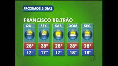 Confira a previsão do tempo para Francisco Beltrão - O tempo ainda fica instável na quinta e sexta-feira, só a partir de sábado o sol predomina.
